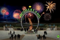 MotherLand Entrance fireworks